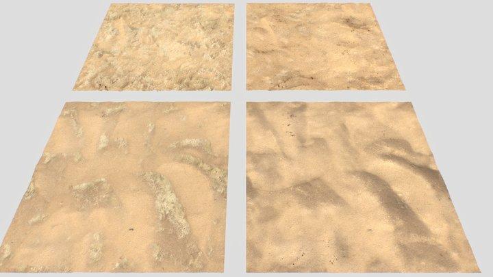 Desert Wasteland Ground PBR pack 10 Textures 3D Model
