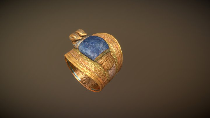 Egyptian ring 3D Model