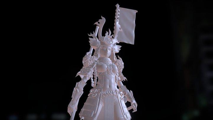 Fire Samurai 3D Model