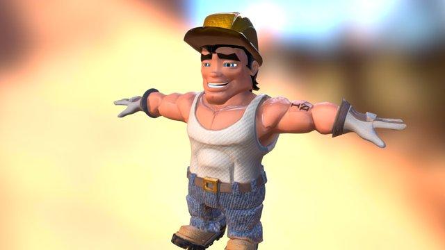 Bob Walking 3D Model