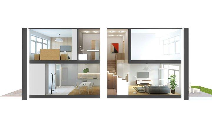 180228 Apartment 2D 3D Model