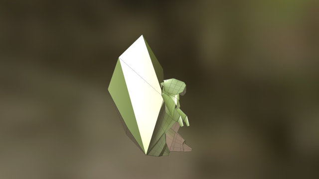 3D Origami based Squirrel Model 3D Model