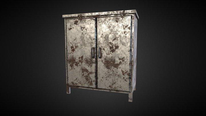 metal Cupboard 3D Model