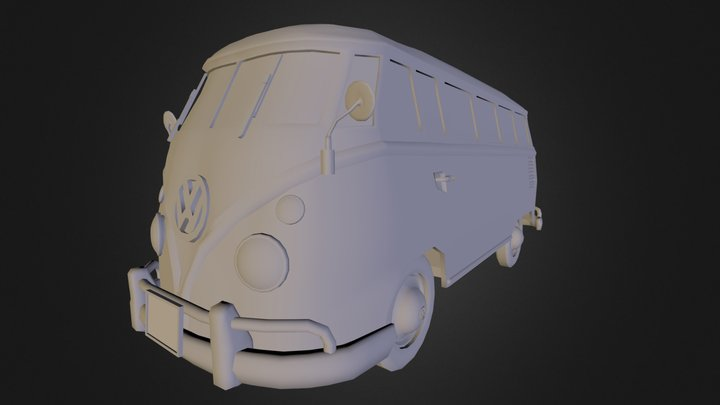 Vw T1 Van 3D Model