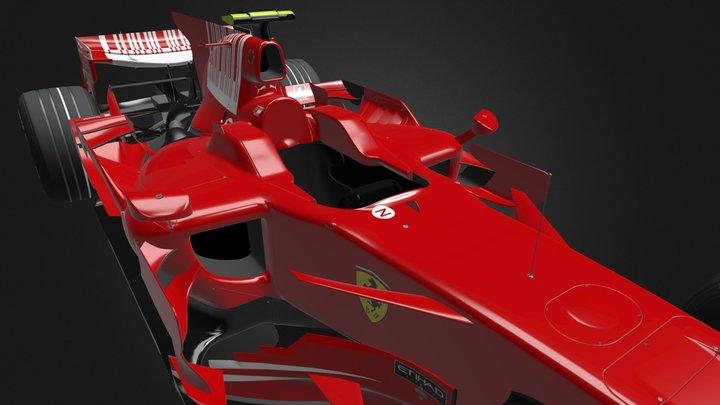 Ferrari_F2008_v1d 3D Model
