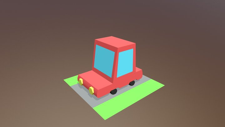 Car Low Poly 3D Model