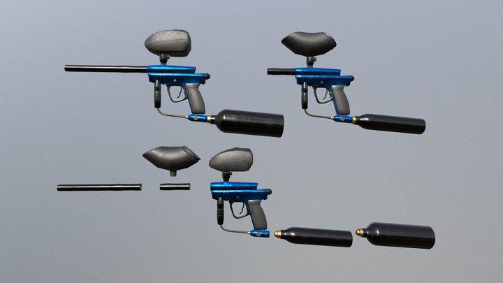 PaintballGun 3D Model