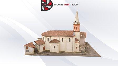 Eglise de Mauran 8.4 mm du Pix 3D Model