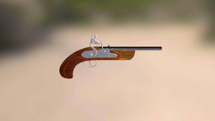 Eighteenth Century Flintlock Pistol 3D Model
