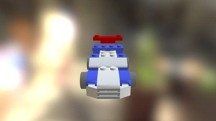 Lego Car Assembly 3D Model