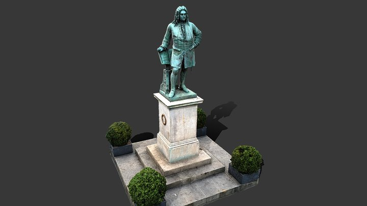 Denkmal Georg Friedrich Händel 3D Model