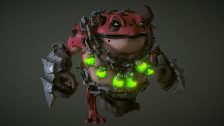 Demon Frog 3D Model