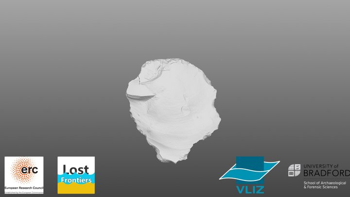 Hammerstone fragment, Southern North Sea. 3D Model