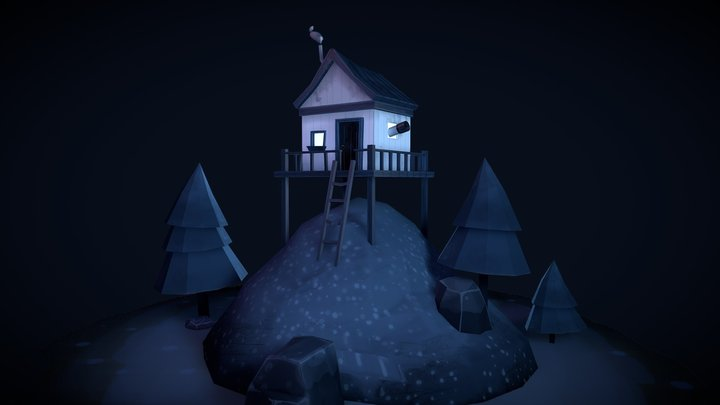 The Cabin On The Hill 3D Model