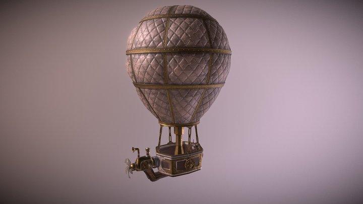 Steampunk Air Baloon 3D Model