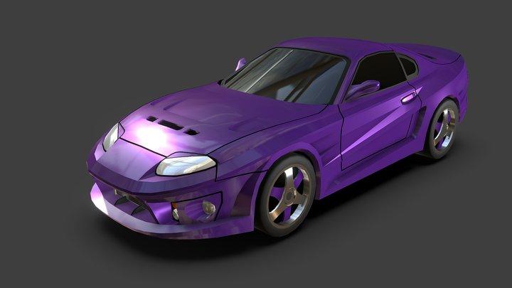 Lowpoly Abflug Supra S900 - No Textures 3D Model