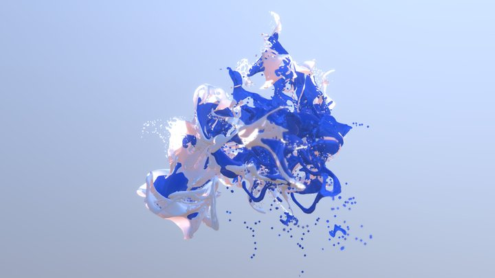 Paint Splash 3D Model