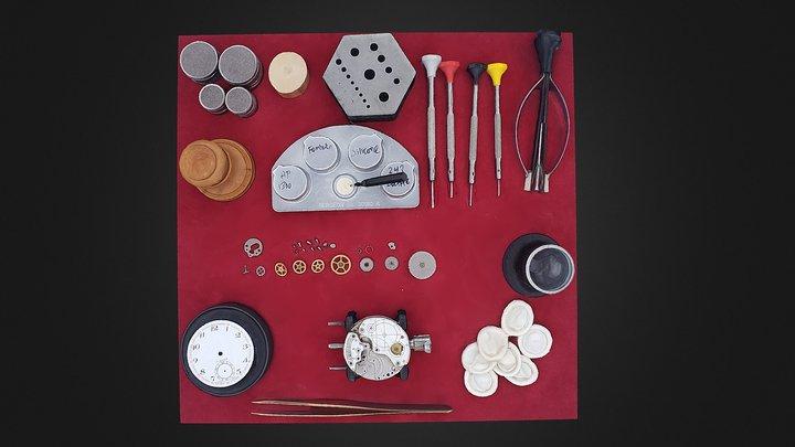 Watchmaker Knolling 3D Model