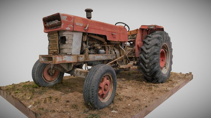 Tractor EBRO 684 ground Agricultural Machine 3D Model