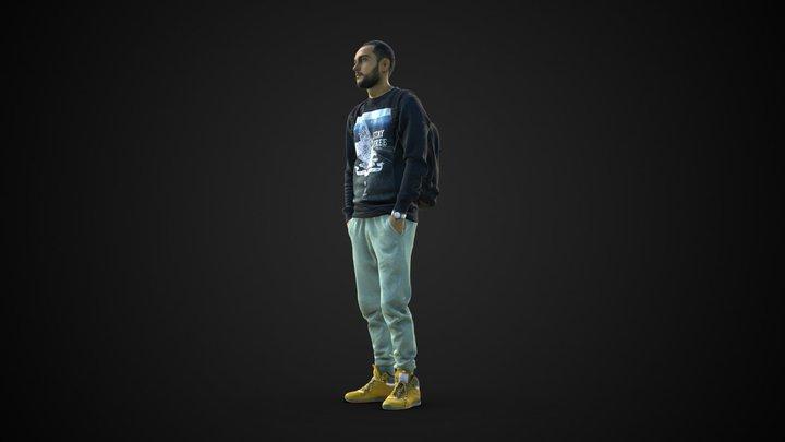 3d scan man 2 3D Model
