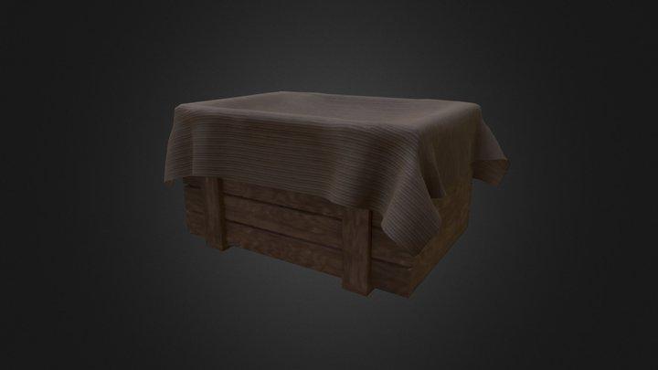 Simple short crate 1.0 3D Model