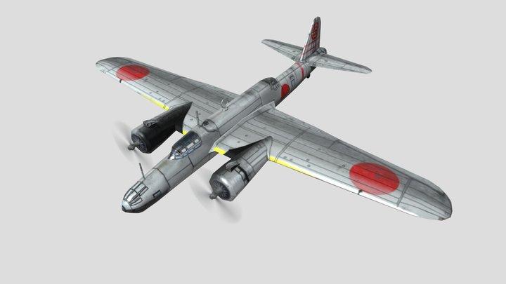 Nakajima Ki-49 Bomber Low Poly Asset 3D Model
