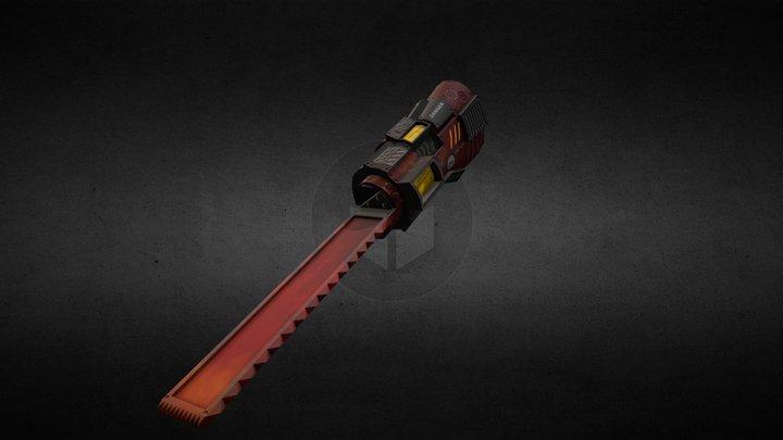 lowpoly saw-hand sci-fi 3D Model