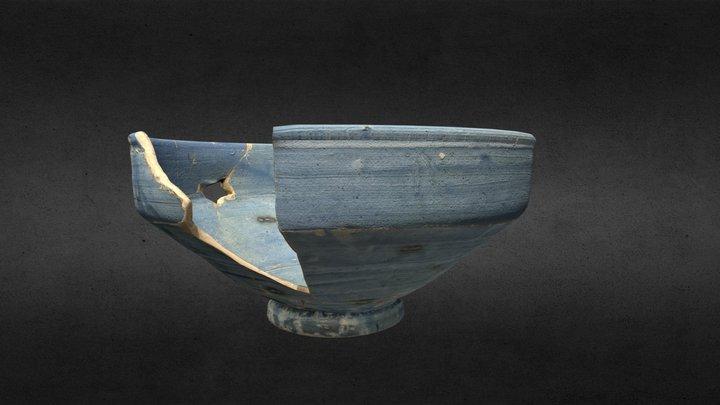 Cuenco monocromo azul. S. XIV-XV 3D Model