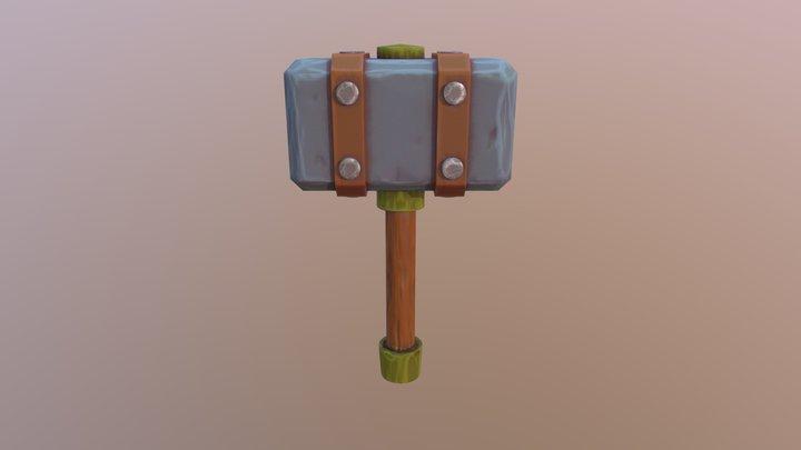 Stylized Stone Hammer 3D Model