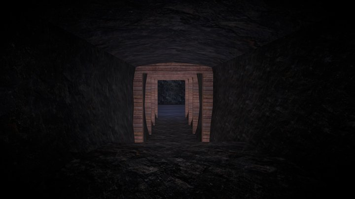Low Poly Cave 3D Model