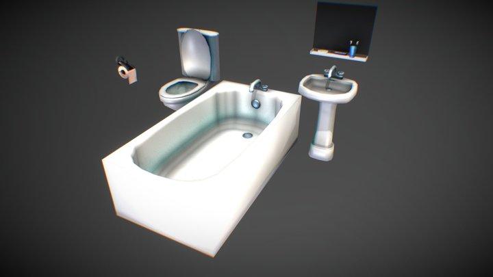 Anime bathroom 3D Model