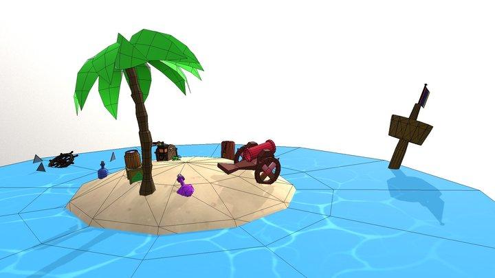 U3192508 9745 Assessment 3 Pirate Island 3D Model