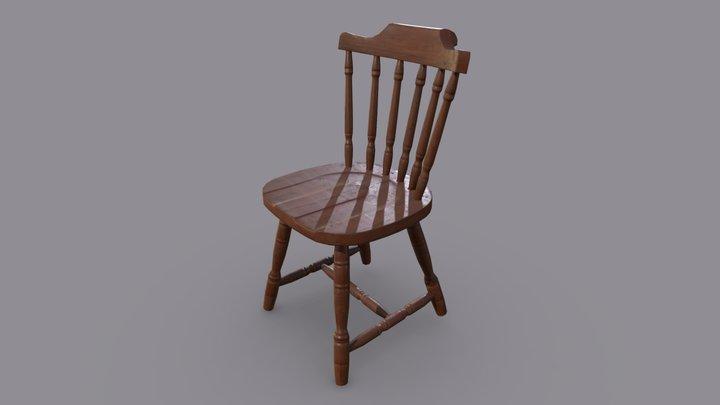 Rustic chair 3D Model