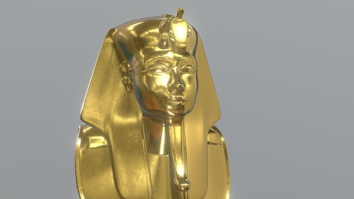 King Tutankhamun 3D Model
