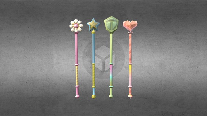 Mary's Wand Forms (old) 3D Model