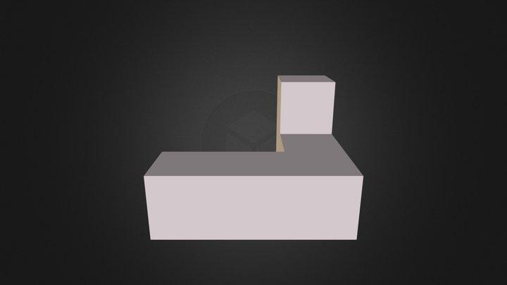 White Puzzle Cube Part 3D Model