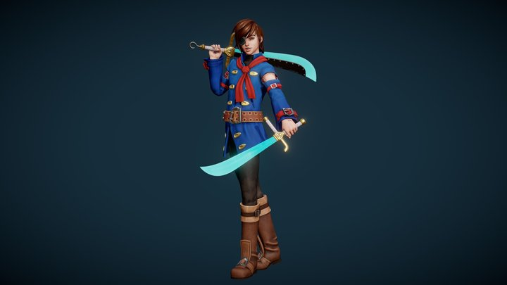 Vyse Skies of Arcadia - Retrogasm 2018 3D Model