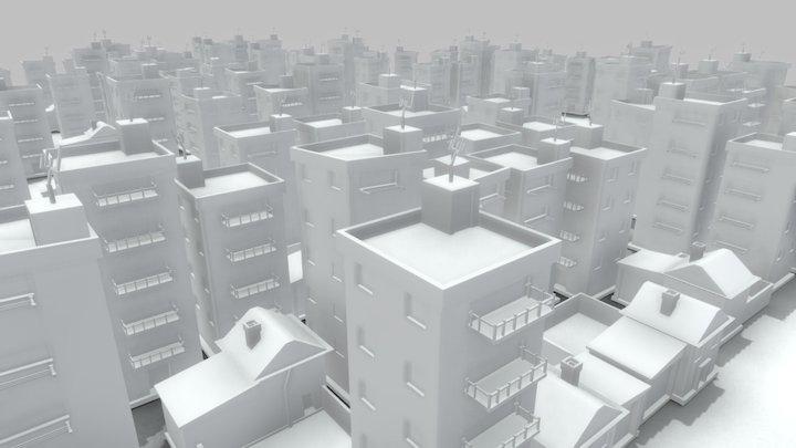CITYSCAPE Speed art 3D Model