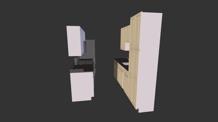 Kitchen (white) 3D Model