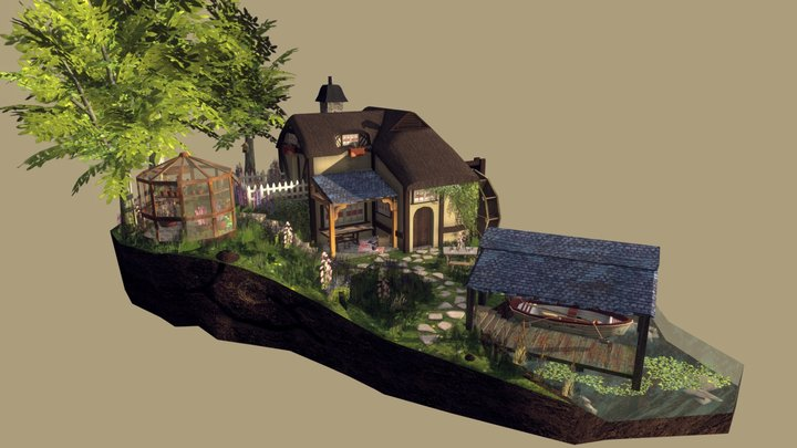 The Griffith's Homestead - Diorama 3D1 3D Model