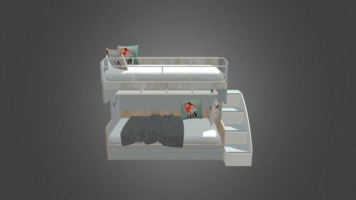 Bunk bed for kids 3D Model