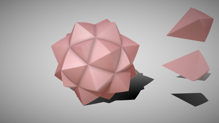 Rose Sphere from Octogram 3D Model