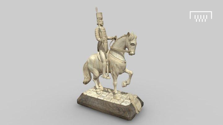Elfenbeinfigur eines Reiters 3D Model