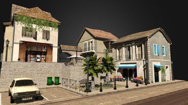 City Scene Aix-en-Provence 3D Model