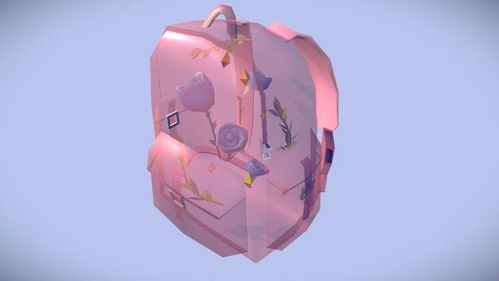Floral Backpack 3D Model