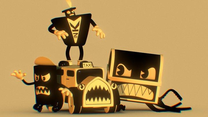 Bendy in Nightmare Run Boss Pack 3D Model