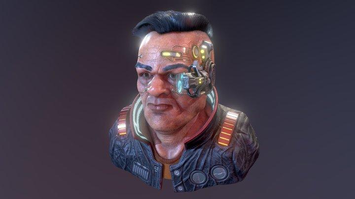 Magnus Cyberpunk Character 3D Model