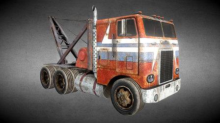 Freightliner towing truck 3D Model