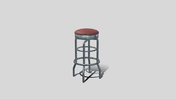Bar Stool 01 3D Model