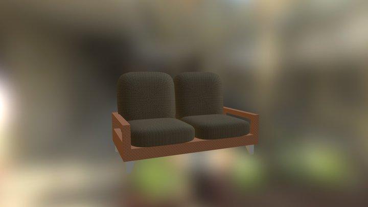 Interior Furn Living Rm Suite Settee 3D Model